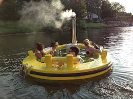 a motorized floating wood fired hot tub ifitshipitshere com the hottug a