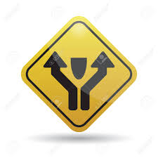Pass Left Or Right Obstacle Sign