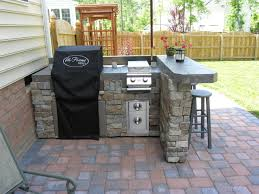 simple and beautiful custom outdoor kitchen