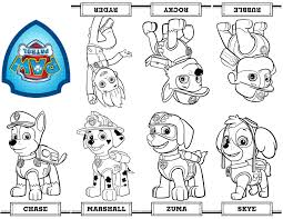 Small Picture Free printable mini Paw Patrol coloring book from a single sheet