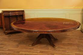 Large Round Transitional Dining Table for 6 to 12 People