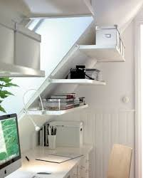 Home office wall shelving Wood Plank Wall Shelving Is The Key To Store Everything Necessary In An Attic Home Office Decoist 29 Creative Home Office Wall Storage Ideas Shelterness