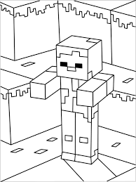 Printable Minecraft Zombie Coloring Page Coloring Pages