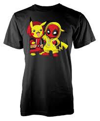 Pokemon Pikachu Deadpool Mashup Kids T Shirt