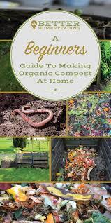 making organic compost at home