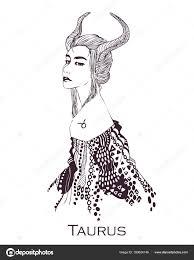 Taurus Astrologický Horoskop Dívky Stylu Znamení Zvěrokruhu Ikona