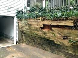 brick retaining wall ideas retaining wall ideas design guide wood blocks