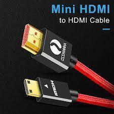 Cáp Chuyển Mini HDMI Sang HDMI Tốc Độ Cao Đực Cáp Mini HDMI 4K 3D 1080P  Dành Cho Máy Ảnh màn Hình Máy Chiếu Laptop HDTV Mini HDMI|HDMI Cables