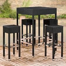 geneva bar stool outdoor table set
