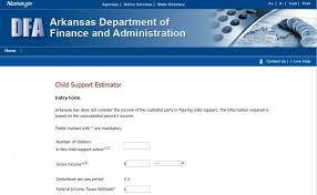 Child Support Chart Arkansas Child Support Calculator Guidelines Child