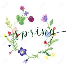 Spring Photo Cards Spring Greeting Card With Flower And Original Handwritten Text