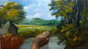 how to draw forest beautiful lake acrylic landscape painting lesson step by step