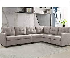 6 piece modular sectional. Simple Sectional 6Piece Modular Sectional Sofas L Shape Living Room Fabric Furniture  Couches In 6 Piece