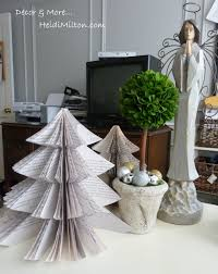 book page christmas tree easy christmas tree office desk