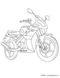 5 Dessins De Coloriage Motocyclette Imprimer
