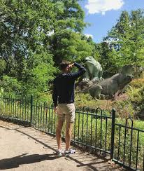 The crystal palace company has moved to penge and commissions leading scientist of the day, richard owen to create life size model dinosaurs for the park, with the aid of artist benjamin hawkins. Crystal Palace Park The Wacky London Park With Dinosaurs And A Maze
