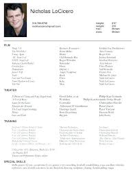 Actors Resume Template Word Acting Resume Template Word Templates ...