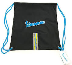 Vespa Helmet Holder Backpack Bag Blue 606661m