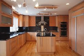 contemporary kitchen in maple