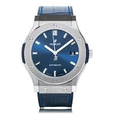 mens hublot watches the watch gallery hublot classic fusion blue titanium mens watch 511 nx 7170 lr