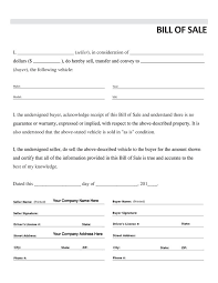 bill of sale vehicle bill of sale form 3 item 7833 automobile forms