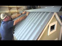 installing ondura corrugated roofing sheets on a en coop