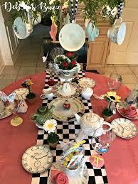 alice in wonderland table teacup chandelier