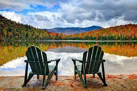 adirondack chairs lake. Interesting Chairs Adirondack Chairs Lake Photo  7 Intended I