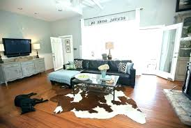 cowhide rug decor rugs for farmhouse awesome decorating with design bedroom temp decoration ideas hide faux