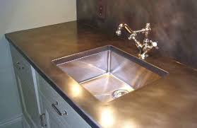 bronze metal patina finish kitchen countertops trim for counters ultimate guide to kitchen design ideas metal countertops trim