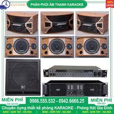 Thanh lý dàn karaoke gia đình gồm 3 cặp 6 Loa BOSE A800 ME + 1 SUB Trầm + 1  Cục đẩy công suất + 1 Vang cơ