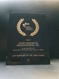 Coast Aerospace Mfg Awards Certs