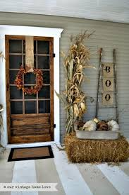 Elegant fall porch decor. From elegant to ghoulish, we've got outdoor  Halloween decorating inspo galore