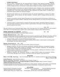 2 - Resume For Board Of Directors