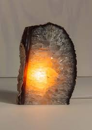Geode Light Large Glowing Natural Stone Agate Geode Lamp Lights Up And A