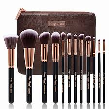 makeup brushes party queen 12pcs rose gold make up brushes beauty blending face powder blush brushes concealer brush contour brush cosmetic brush