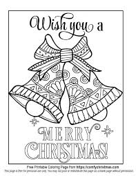 Free Printable Christmas Coloring Pages Coloring Printable