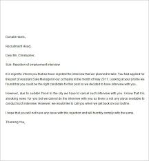Rejection Letter 7 Free Doc Download Letter Response Sample ... rejection letter free doc download: letter response sample interview