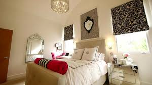 Mirrored Bedrooms Bedroom Bed And Bath Mirrored Nightstand And Bedding With Beds