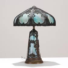 victorian slag glass lamp antique shade parts