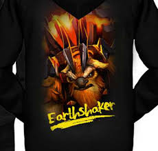 dota 2 hero earthshaker zip hoodie for gamers sweatshirtxy com
