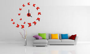 3d modern designs frameless large interior wall clock diy home decor