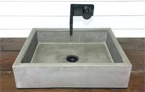 concrete sink diy cast concrete sink diy concrete trough sink diy
