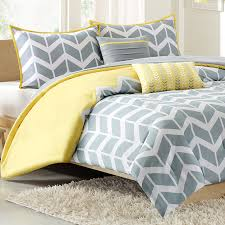 nadia chevron print twin xl comforter set yellow