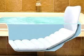 bathtub pillow image of full bath pillow loungers inflatable bath pillow bathtub pillow