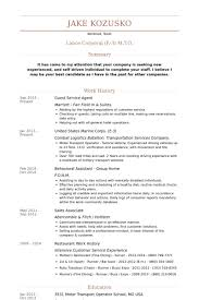 Guest Service Agent Resume samples