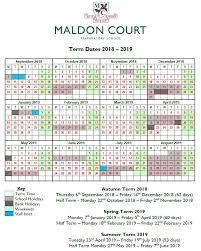 Term Dates 2018-19 — Maldon Court Preparatory School