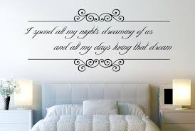 i spend all my nights dreaming of us wall sticker on dream wall art uk with i spend all my nights dreaming of us wall stickers uk art decals