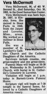 Vera McDermott Obituary - Newspapers.com
