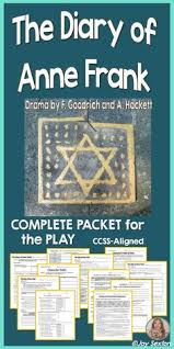 the diary of anne frank activities and writing prompts grades  diary of anne frank play student ready complete packet